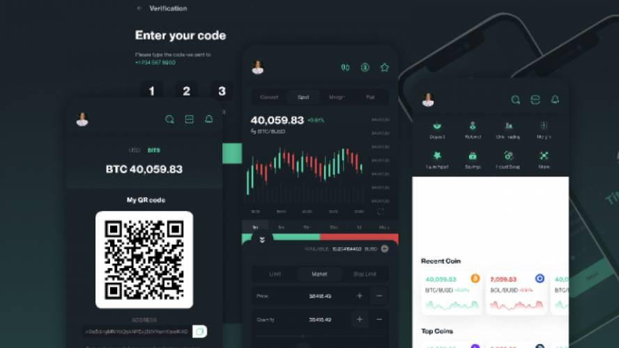 Figma Crypto Mobile App Full Screen