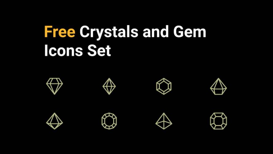 Figma Crystals and Gemstone icons pack Free Download
