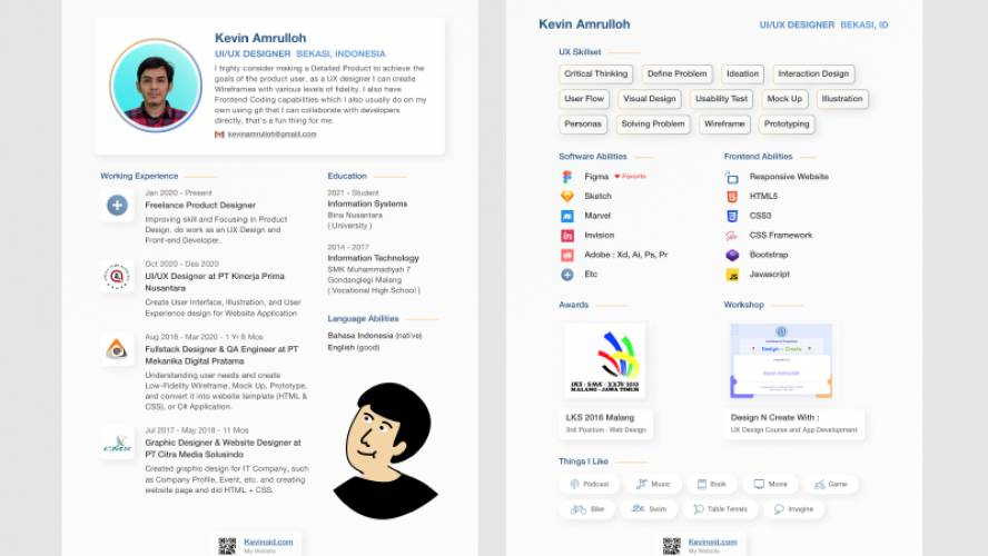 Figma CV UI/UX Designer