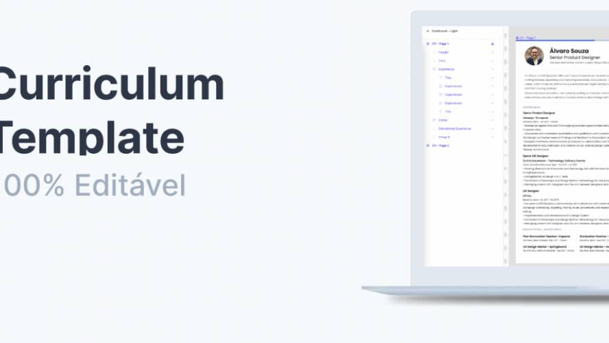 Figma CV UX Designer Template