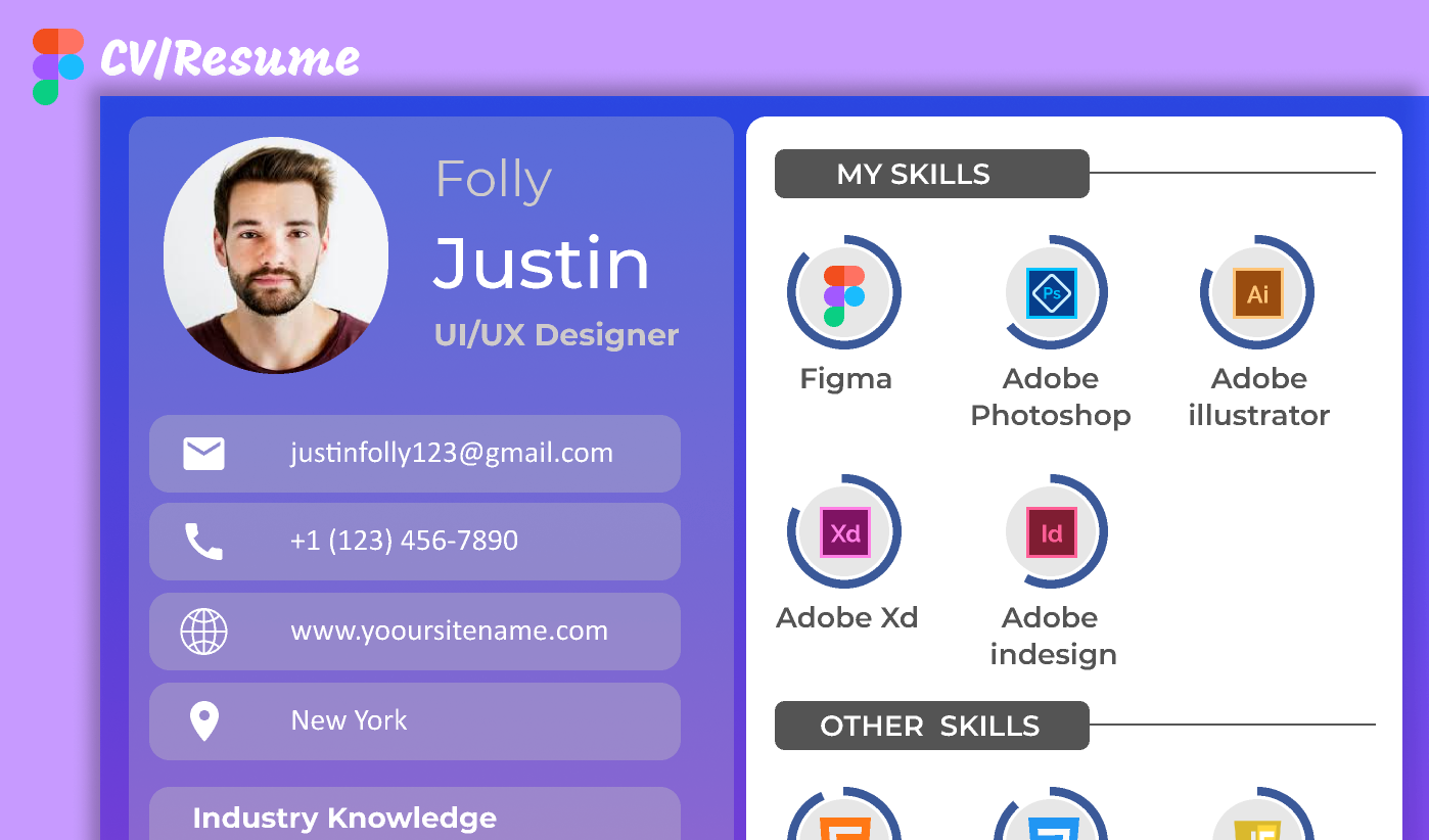 Figma CV/Resume Template