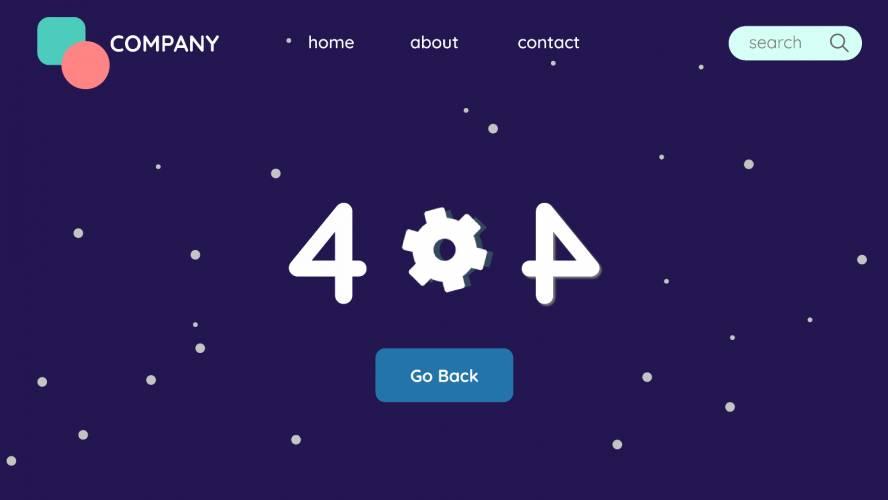 Figma Dark 404 page