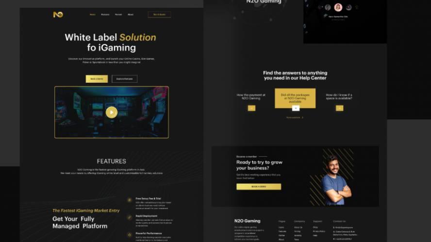 Figma Dark Landing page - N2O Gaming