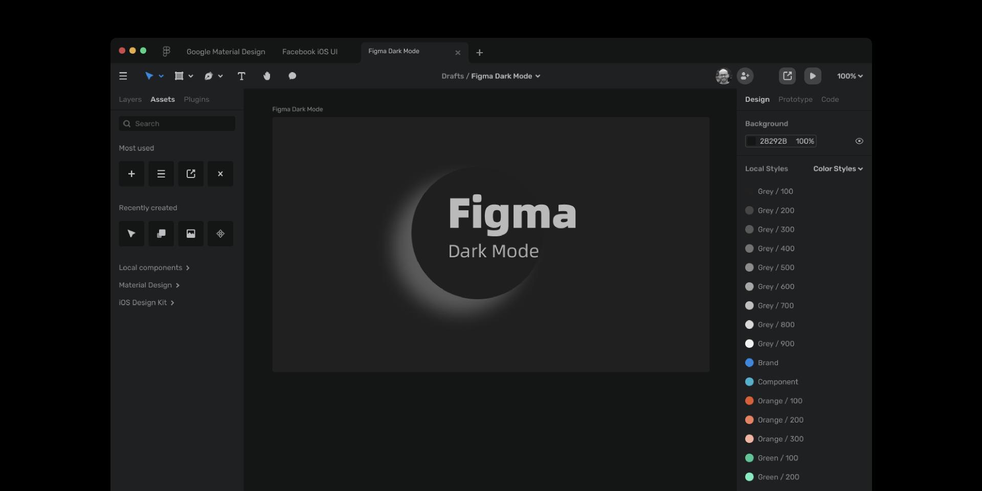 Figma Dark Mode figma template