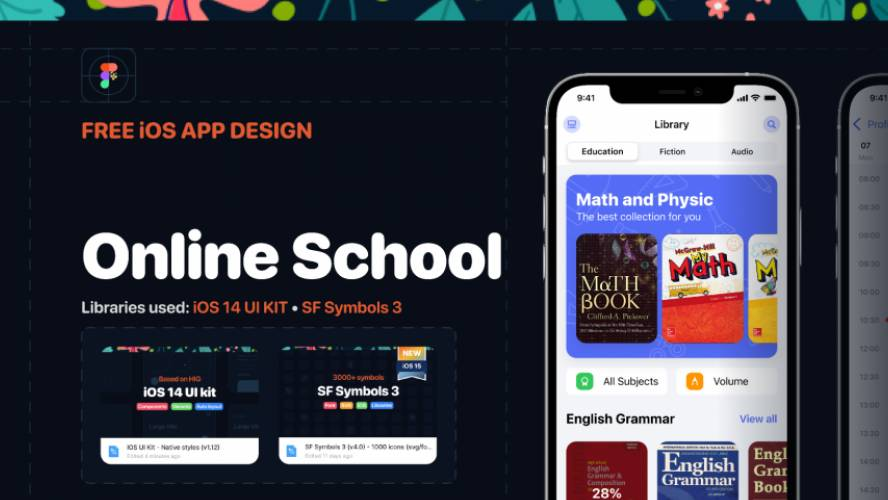 Figma Design Online School - iOS app Design