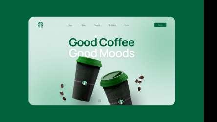 Figma Design Starbucks Landing Page Redesign