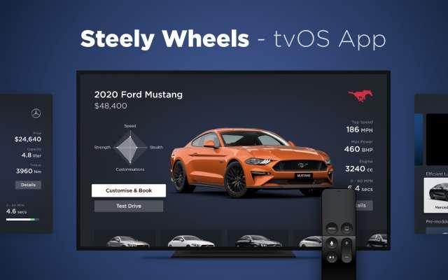 Figma Design Steely Wheels - tvOS App