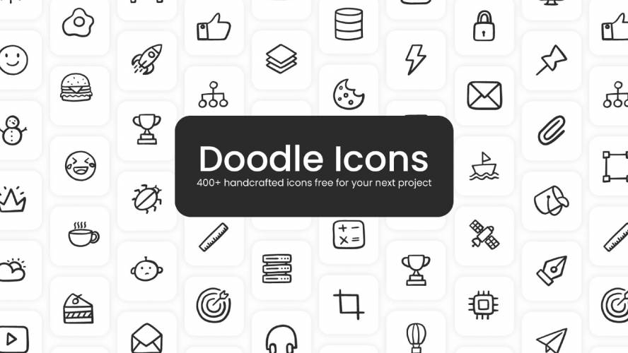 Figma Doodle icons Free Template