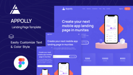 Figma Download App Mobile Landing Page Template
