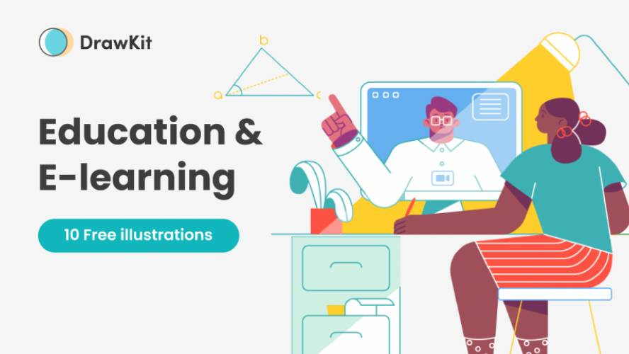 Figma Education & E-Learning Illustrations Free Download
