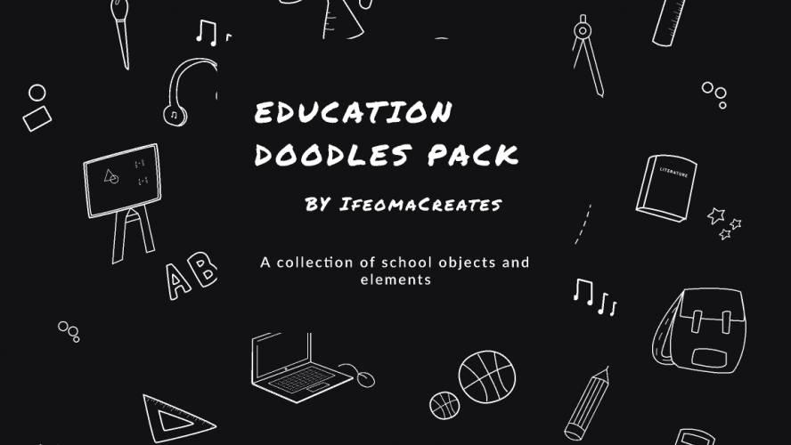Figma Educational Doodles Pack Illustrastion