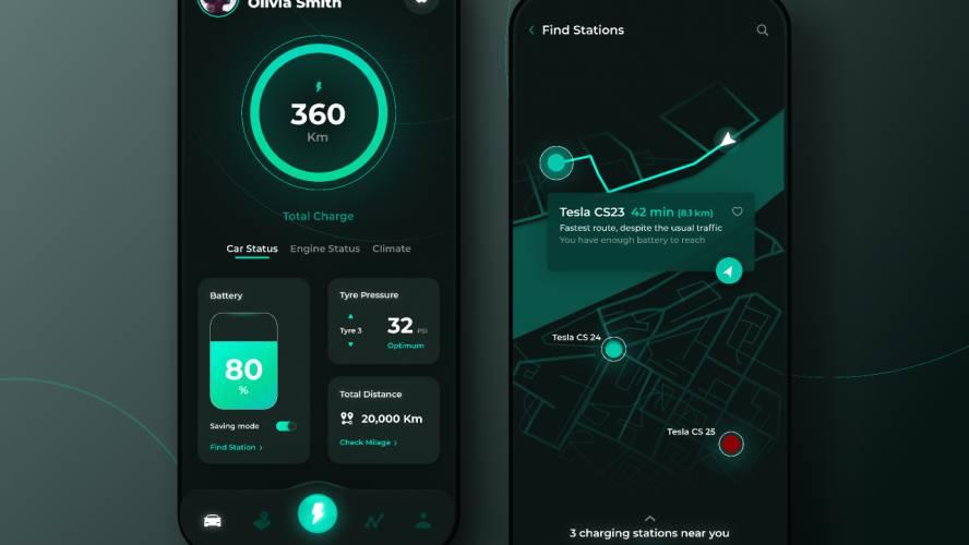 Figma Electric Car App Free Template