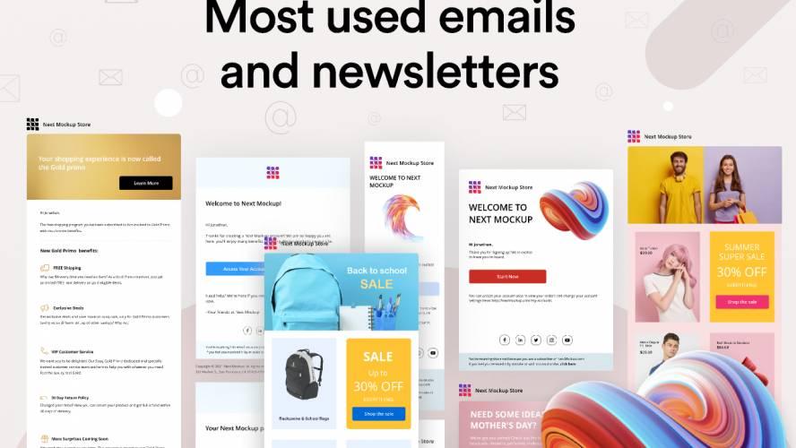 Figma Email design templates freebie