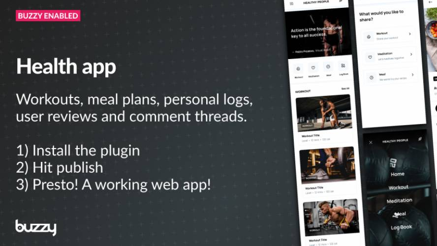 Figma Example health app