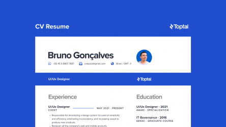 Figma Fee CV Toptal Resume