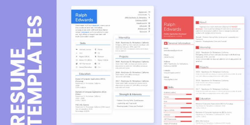 Figma file Modern Resume Template