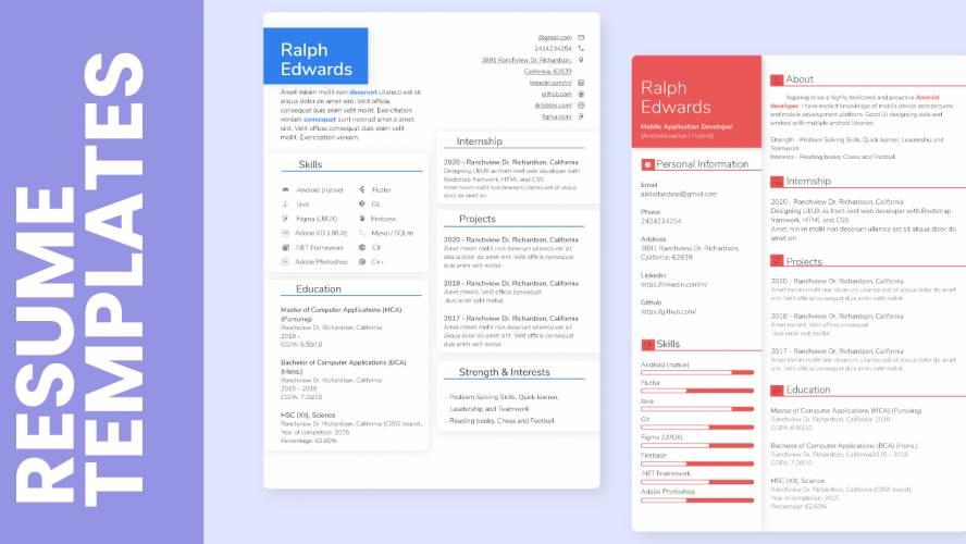 Figma file Modern Resume Template