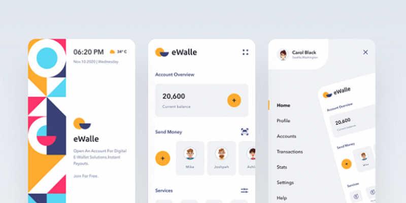 Figma Finance App UI Free Template