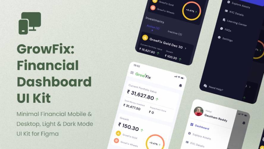 Figma Financial Dashboard UI Kit