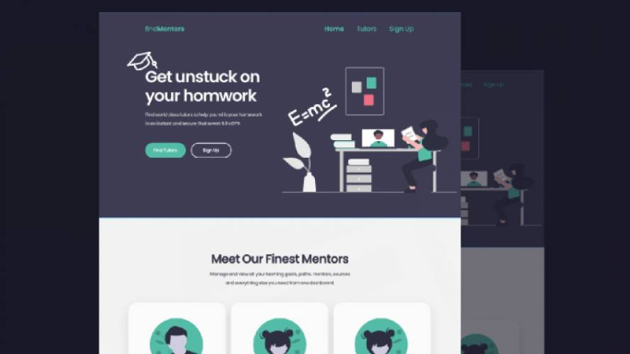 Figma Find Mentors Landing Page