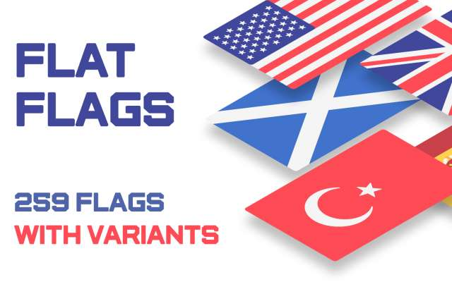 Figma Flat Flags with Variants - 259 Vector Flags Free