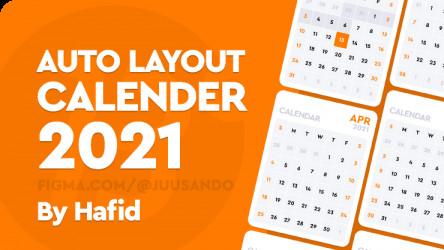 Figma free 2021 CALENDAR Auto layout