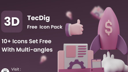 Figma Free 3D Icons Pack (TecDig)