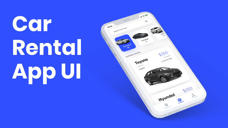 Figma free Car Rental App UI