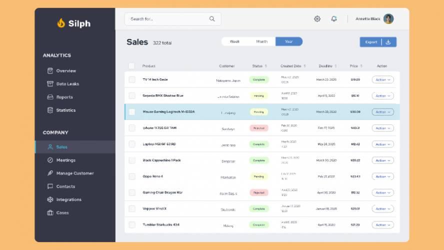 Figma Free Download Dashboard Template