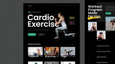 Figma Free Fitness Landing Page