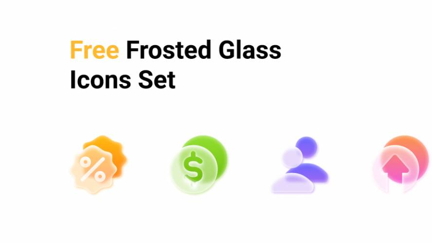 Figma Free Frosted glass icons set