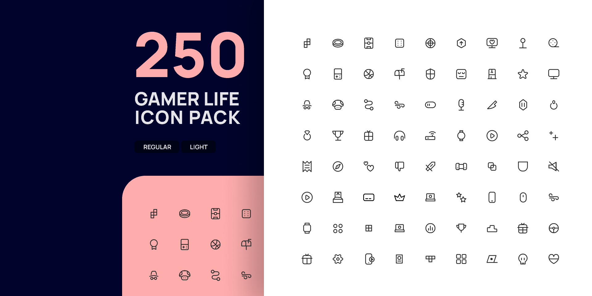 Figma free Gamer Life Icon Pack