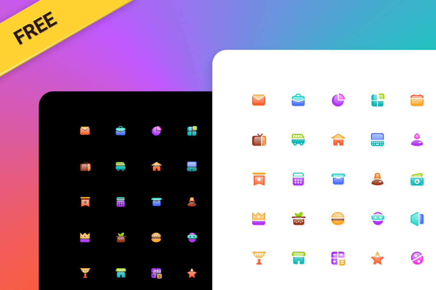 Figma Free Glass Icons Template