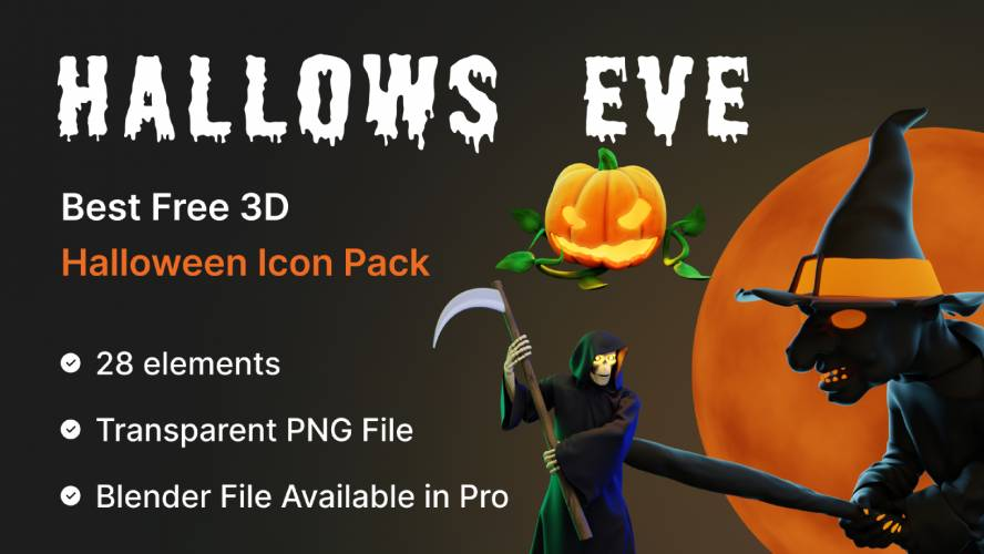 Figma Free Halloween 3D Icon Pack