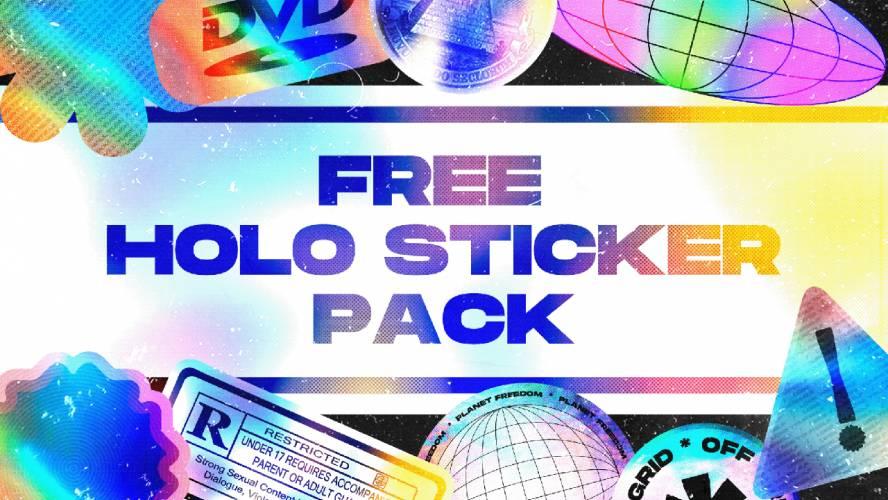 Figma Free Holo Sticker Pack