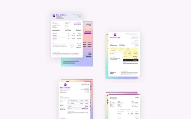 Figma free Invoice Templates