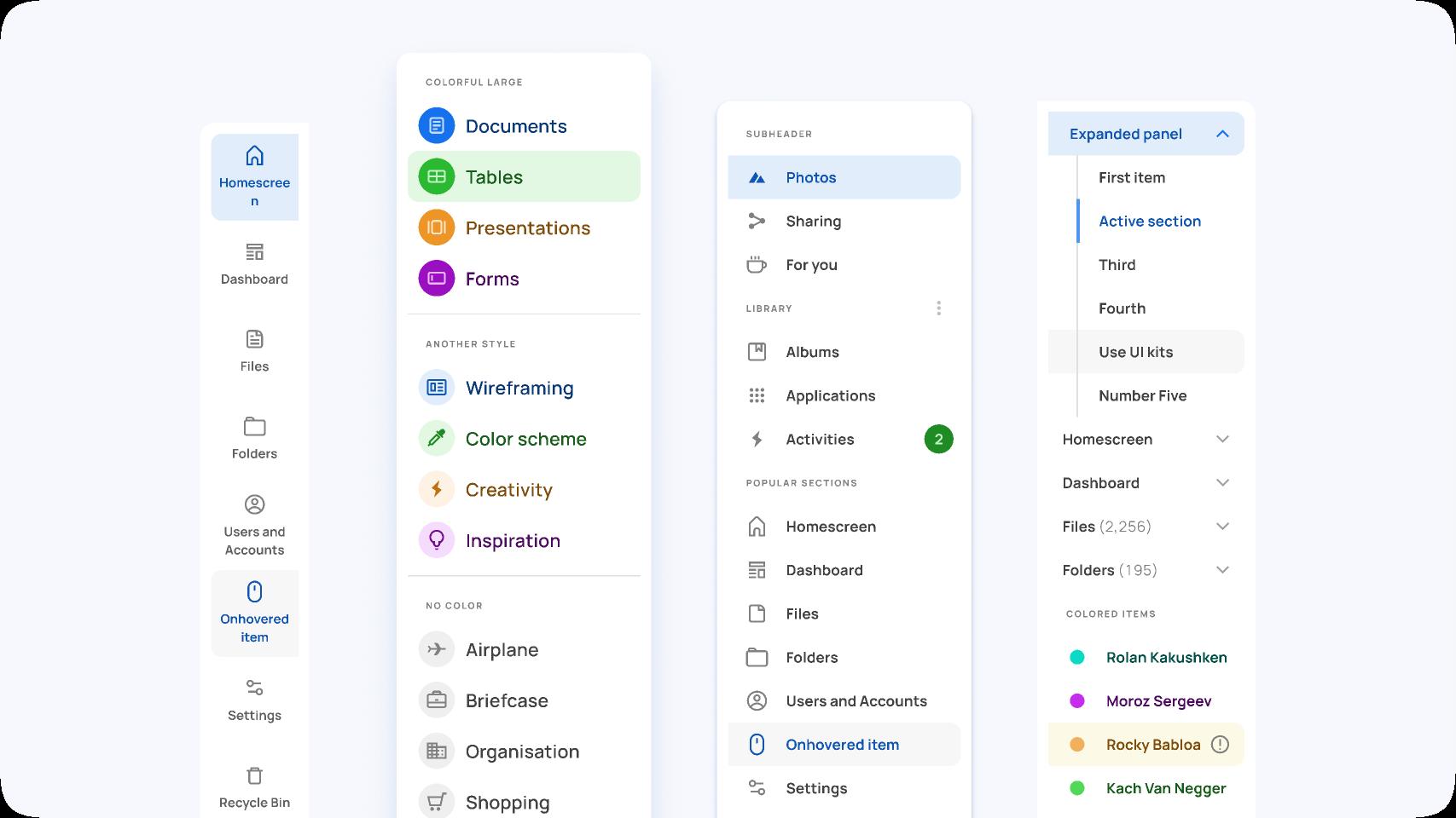 Figma Free Navigation UI design components Template