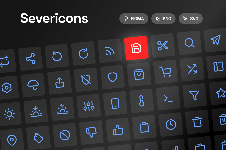 Figma Free Sever icons - Essential icon set