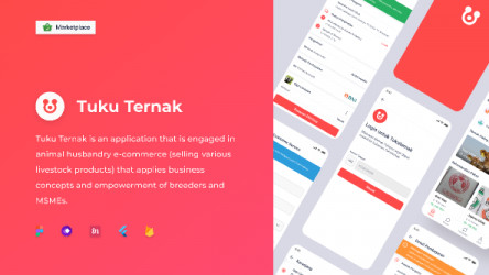 Figma free TukuTernak Mobile App Template