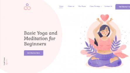 Figma Free Yoga Landing Page
