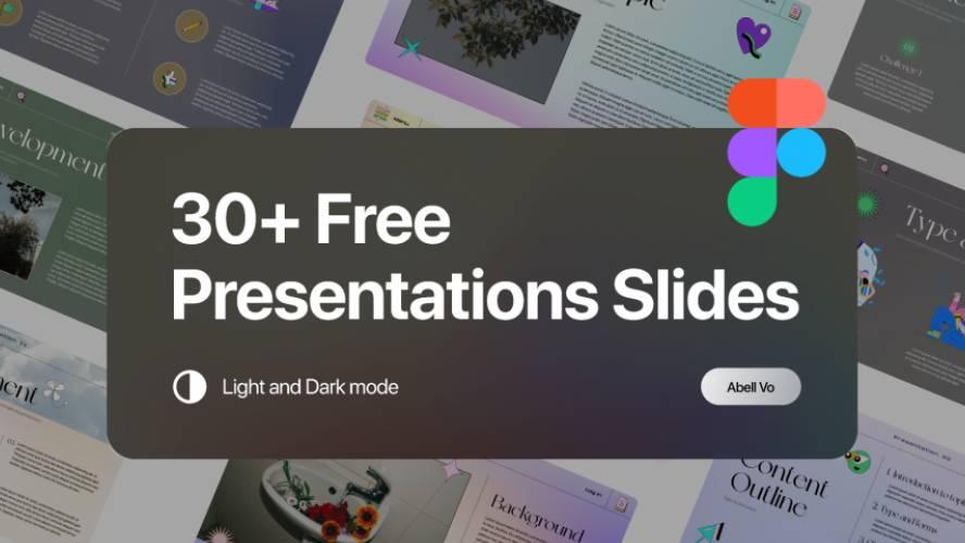 Figma Freebie 30+ Free Presentation Slides