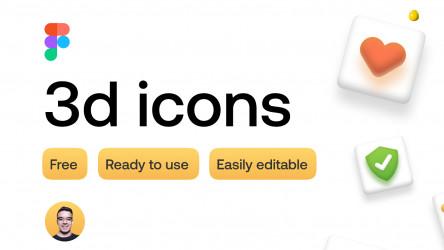 Figma Freebie 3d icons