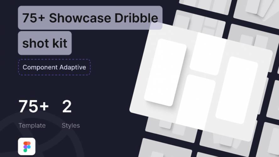 Figma Freebie 75+ Showcase Dribble Mockups