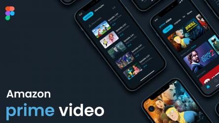 Figma Freebie Amazon Prime video - conceito 2021