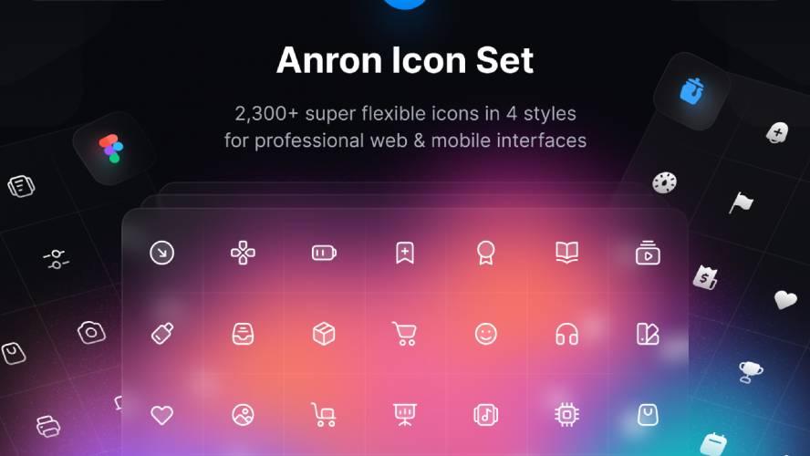 Figma freebie Anron Icons   Line, Filled, Duotone