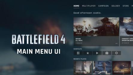 Figma Freebie Battlefield 4 - Main Menu UI Design