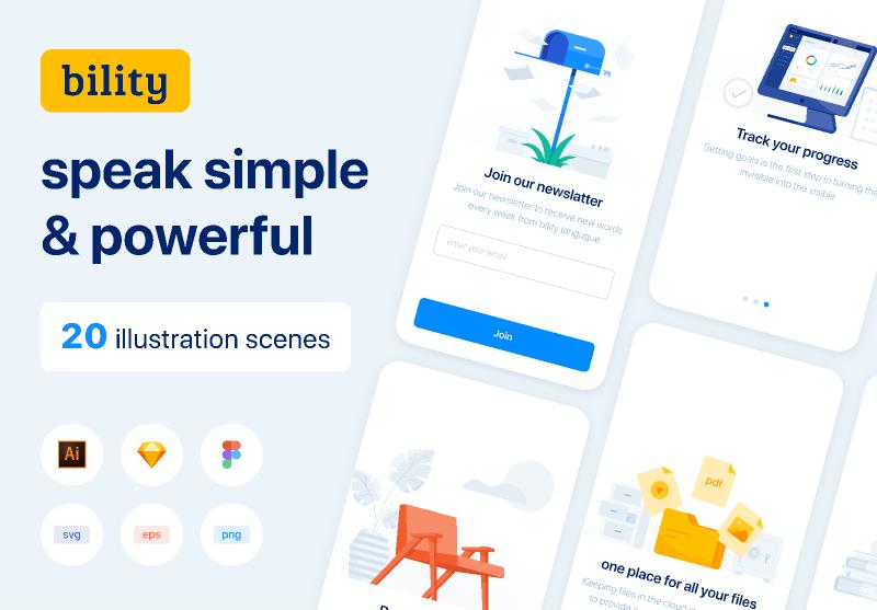 Figma freebie Bility presentation template