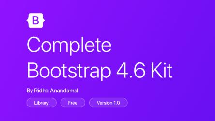 Figma Freebie Bootstrap 4.6 Kit (Complete)