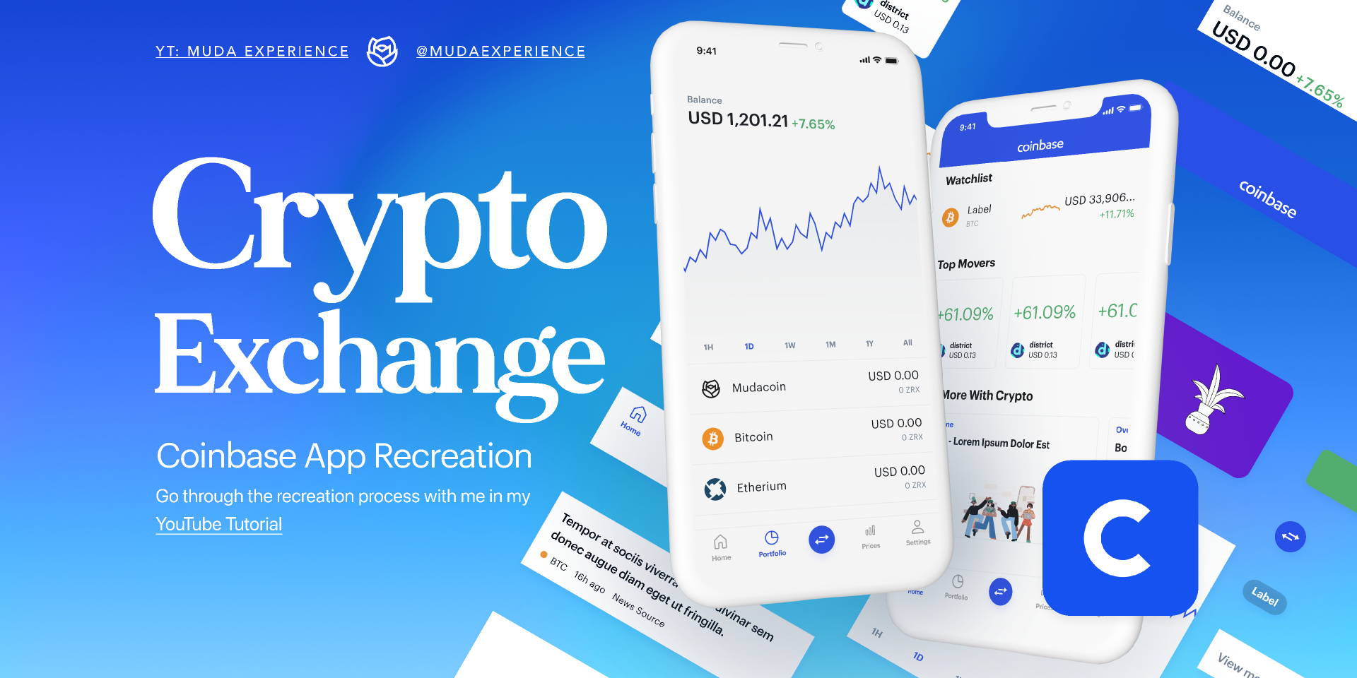 Figma freebie Coinbase Design Library (Cryptocurrency) template