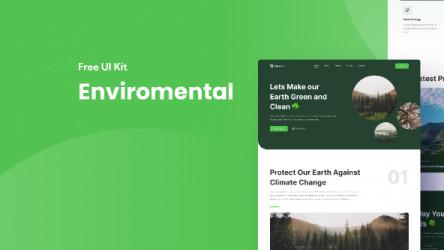 Figma Freebie Environmental Website Landing Page